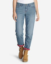 Eddie Bauer Boyfriend Flannel-Lined Jeans, size 10, NWT
