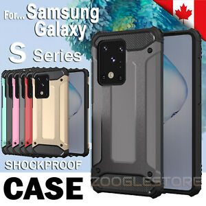 For Samsung S20 FE S20 Plus Ultra S10 S9 Plus Dual Layer Armor Case Rugged Cover