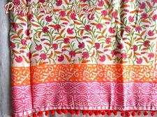 Set Of 2 Indian Pareo Beach Wear Hand Block Sarong Cover 100% Cotton Bikini Up A