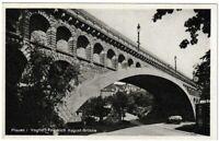 Ansichtskarte Plauen Vogtland - Friedrich August-Brücke mit LKW - schwarz/weiß