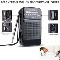 Portable AM FM Radio 2AABattery Operated Pocket Transistor Radio for Hiking NEW