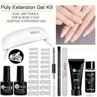 MTSSII Poly UV LED Gel Nail Art Extension Slip Solution Top Base Coat Set Kits