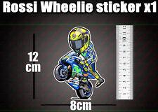 Valentino Rossi wheelie Decal Sticker Moto GP laptop helmet bike car scooter 46