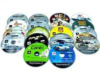Lot 18 jeux Playstation 2 PS2 disques seuls hors service / non testés PAL