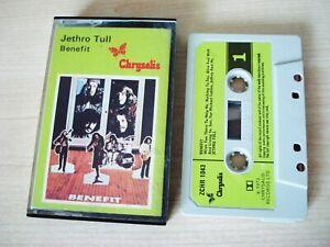 Jethro Tull Benefit 1970 UK Cassette Chrysalis ZCHR 1043 EX