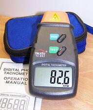 Digital Photo Tachometer RPM Model Airplane Engine Motor + extra Reflective Tape