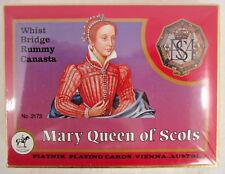 VINTAGE PIATNIK PLAYING CARDS DOUBLE DECK MARY QUEEN OF SCOTS-SEALED/UNOPEN/MINT