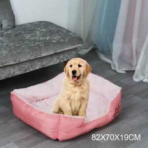 Large Plush Pet Dog Cat Puppy Bed Arctic Velvet Cushion Washable Soft Comfy Pink