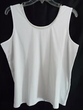 Women's Denim 42/7  Sleeveless Embellished Tank Top in 14/16 (M) in White Silver