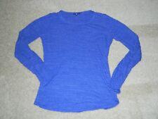 Womens GAP Purple/White Striped Textured L/S Shirt, M