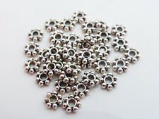 200 x Tibetan Style Daisy Flower Spacer Beads 4mm Antique Silver LF (MB22)