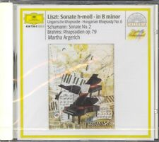 LISZT - Piano Sonata / SCHUMANN / BRAHMS - Rhapsodies - Martha ARGERICH - DG NEW