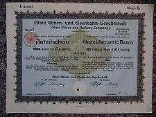Deutsch-Südwest Afrika, Tsumeb, 1921: Otavi Minen- und Eisenbahn Gesellschaft