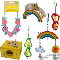 Rosewood Woodies Colourful Happy Hamster Guinea Pig Parrot Gnaw Activity Toys