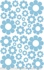 38 POWDER BLUE DAISIES VINYL DAISY DECAL STICKER Teen Baby Girl Bedroom Wall