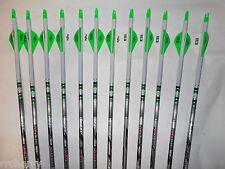@NEW@ 12 Beman ICS Hunter 400 Carbon Arrows w/ Dip Crest Blazer Vanes! WILL CUT!