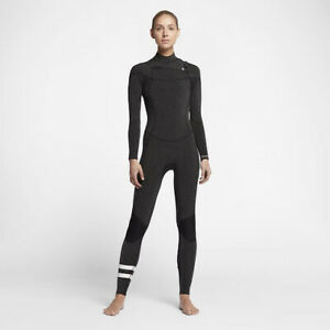 Hurley Women's Advantage Plus 4/3 Chest Zip Wetsuit  – MSRP - $295 Size 6