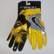 Nike VAPOR JET 4 Receiver Gloves YELLOW BLACK GF0491 719 Adult Size MEDIUM