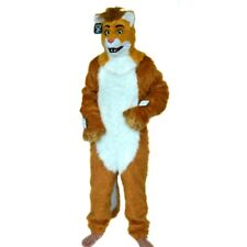 Can Move Mouth Lion Mascot Costume Fursuit Cosplay Halloween Party Fancy Dress #
