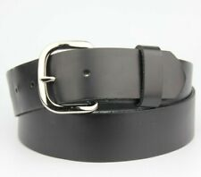 Black Thick Real Leather Belt Size M