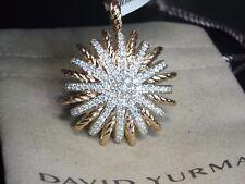 DAVID YURMAN 35 X 35 STARBURST 18K ROSE GOLD 1.92 CTW DIAMOND PENDANT ENHANCER