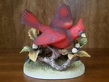 Male Cardinal Porcelain Bird Figurine, Andrea by Sadek