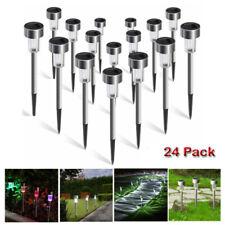 24PCS Waterproof Solar Led Garden Lawn Lights Outdoor Ground Garden Light Path