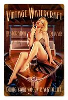 Vintage Watercraft Metal Sign ( Greg Hildebrandt )