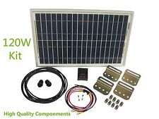 Battery Charging System Kit RV 120W 12v Solar Panel Controller + Bracket + Cable