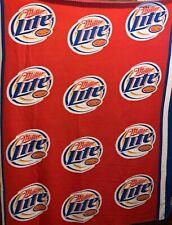 Miller Lite Beer 2006 Polyester Blanket Throw 58x46