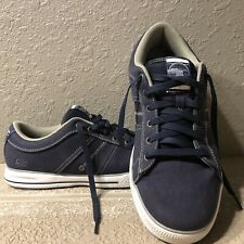 Skechers ARCADE-FULROW Navy Blue Canvas Sneakers Tennis Shoes Size 11.5