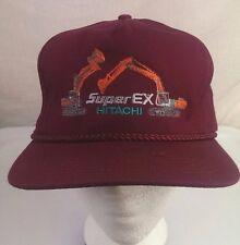 Hitachi Cap Super Ex Hat Machinery Excavator Construction Track Hoes Adjustable