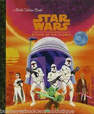 Star Wars ATTACK OF THE CLONES Little Golden Book NEW Anakin Skywalker SPACE