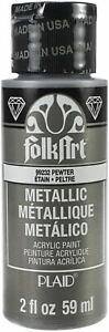 FolkArt Metallic Acrylic Paint 2oz-Pewter -SM-99232