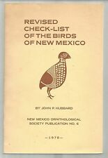 Revised Check-list of the Birds of New Mexico, John P. Hubbard 1978 ornithology