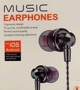 Universal Music Earphones Headphones with 3.5mm Jack - High Quality Sound