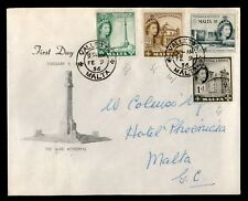 DR WHO 1956 MALTA FDC WAR MEMORIAL  C228109