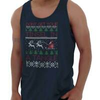 Ugly Christmas Sweater | Happy Holiday Santa Claus Reindeer Tank Top