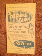 Riviera Hotel Casino 1957 Pajama Game Advertising Postcard Las Vegas 3¢ Stamp