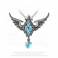 NEW Alchemy Gothic ICE QUEEN FROZEN HEART Pendant Necklace SWAROVSKI P703