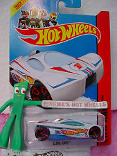 Case E 2014 i Team Hot Wheels SLING SHOT #141∞White; Red oh5 variant∞Race Team