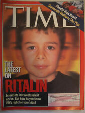 TIME MAGAZINE NOVEMBER 30 1998 THE LATEST ON RITALIN IS IT RIGHT FOR YOUR KIDS?