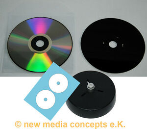 CD-R  700 MB Silber/schwarz  MPO + Eitketten + Hüllen + Labelhilfe 50 Stück
