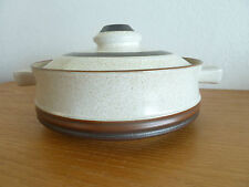 Denby Pottery Wheel Rust  1 Quart Round Covered Casseole