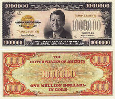 Ronald Reagan Thanks A Million Novelty Money Bill #288