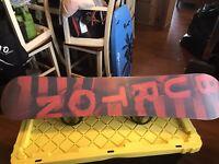 Burton Ripcord Snowboard 50, 150cm, custom bindings & Vega Boa boots size 9/Men