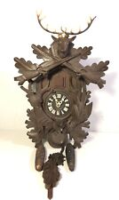 Vintage Bachmaier & Klemmer Hunter Deer Head Cuckoo Clock Germany