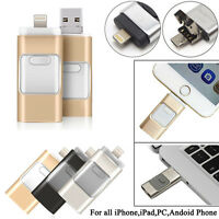 512GB i Flash Drive USB Memory Stick U Disk 3 in 1 for Android/IOS iPhone 6S PC