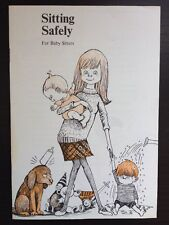 1970 Sitting Safely For Baby Sitters Pamphlet Book Illustrations Advertising