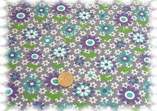 Summer Flowers Stretch-Jersey grau 50 cm Baumwolle nähen Blumenstoff Meterware